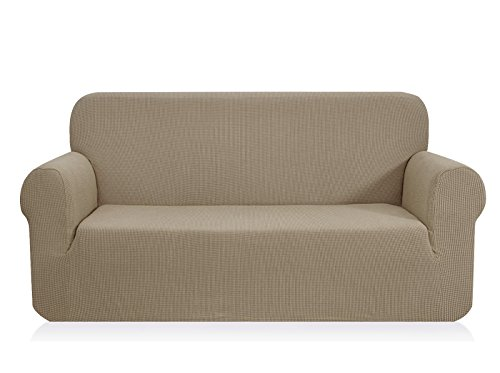 CHUN YI 1-Stück Jacquard Sofaüberwurf, Sofaüberzug, Sofahusse, Sofabezug für Sofa, Couch, Sessel, mehrere Farben (Sand, 4-sitzer)