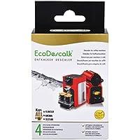 EcoDescalk, 4 Sobres. Descalcificador en Polvo para Cafeteras. para Todas Las Marcas, Bosch, Nespresso, Krups, DeLonghi, Tassimo…4 descalcificaciones.