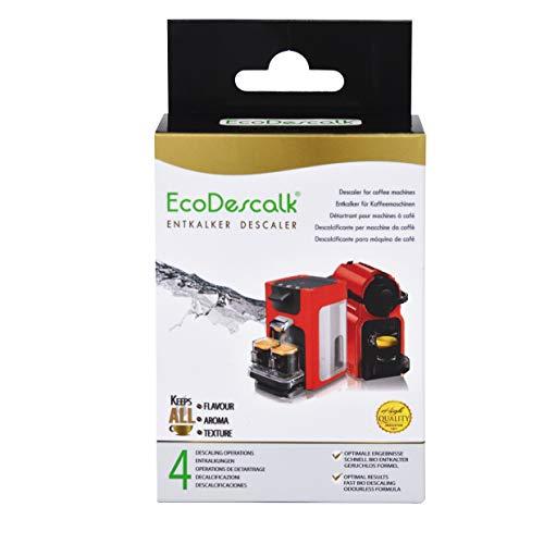 Ecodescalk, 4 sacchetti. decalcificante in polvere per macchine da caffè. per tutte le marche (bosch, nespresso, krups, delonghi, tassimo.) 4 decalcificazioni. prodotto ce.