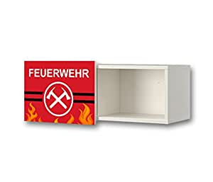 feuerwehr m belsticker aufkleber f r kinderzimmer wandschrank wandregal brimnes von ikea. Black Bedroom Furniture Sets. Home Design Ideas