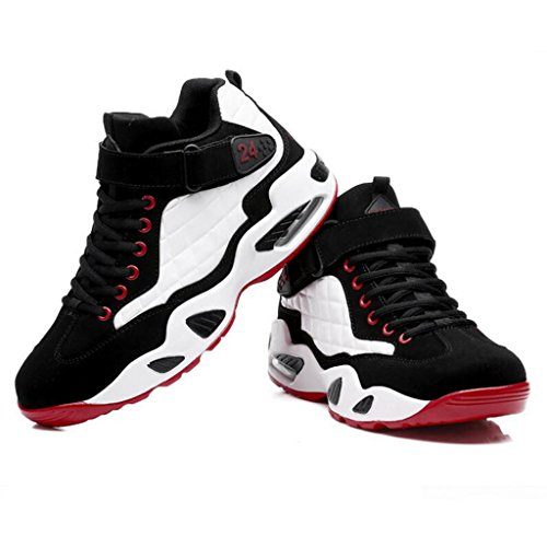 Scarpe Sportive Da Corsa Autunno Inverno Scarpe Antiscivolo Ammortizzanti Scarpe Da Basket Casual Sneakers Alte 38-43 Bianca