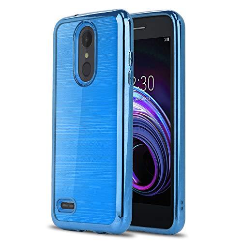 Schutzhülle für LG Tribute Empire (Boost Mobile, Sprint) [Chrome Serie] stoßfest, weiches TPU-Gummi [Chrom-Design, galvanisierte Stoßstange] für Tribute Empire (Boost Mobile, Sprint), blau (Boost Mobile Sprint)