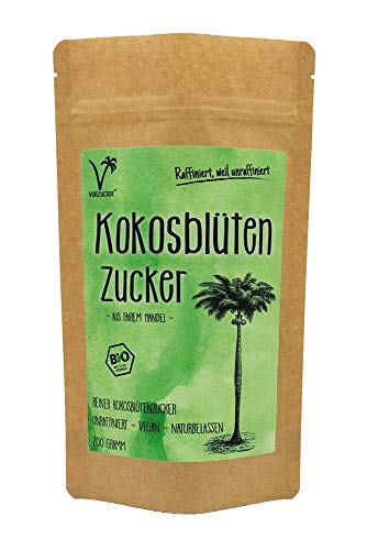Bio Kokosblütenzucker - alternative Süße von Vollzucker | aus fairem Handel (200 GR)