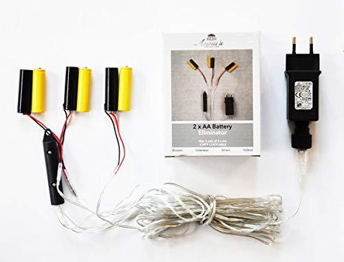 Coen Bakker Batterie Adapter 3 x 2 AA Mignon Batterien 3,2V Wandler 4m Kabel Netzteil