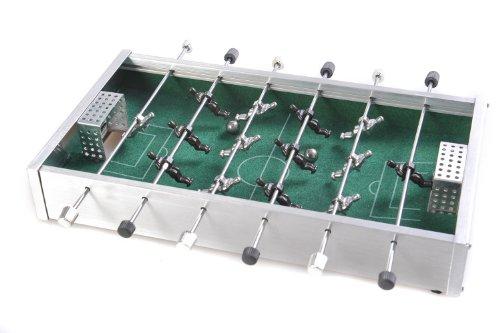 Quantum Abacus Azerus Alu Line: Aluminium Box: Mini-Fußball (Tischfußball, Table Football, Tischkicker), 20,5cm x 18cm x 3,5cm (XY012P DE)