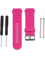 For Garmin Forerunner 920XT GPS Watch ,Ouneed ® Soft reemplazo de la correa del silicón del reloj Band + agarraderas de adaptadores para Forerunner 920XT de Garmin GPS Reloj (Rosa caliente)
