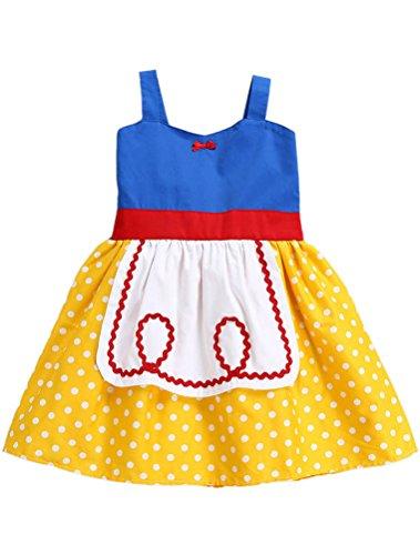 ARAUS Mädchen Kleid Schleuderkleid Prinzessin Ärmloses Sommerkleid Kostüm für Kinder 0.5-16 Jahre (Kind Blau Ara Kostüm)