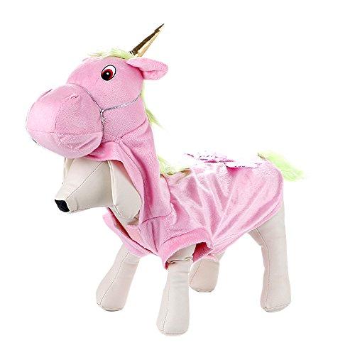 (Lazzykit Haustierkleidung Dinosaurier Einhorn Form Hund Katze Kleidung Pullover Mantel Hoodie)