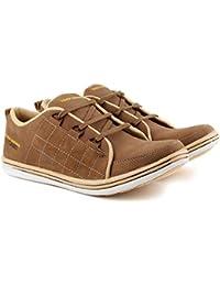 Golden Sparrow Men'S Tan Fabric Synthetic Casual Shoe
