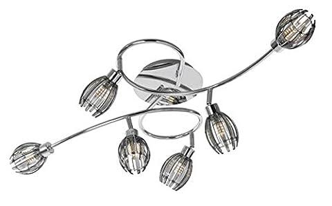 Plafonnier 6 lampes Lo design MAC-CB2 Gris anthracite Métal LO00011146