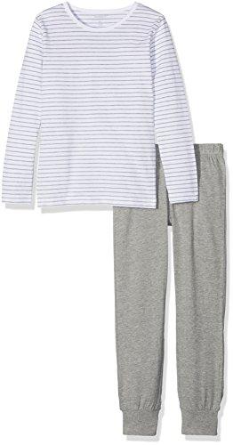 NAME IT Mädchen Zweiteiliger Schlafanzug NKFNIGHTSET Grey Mel NOOS, Mehrfarbig Melange, 140