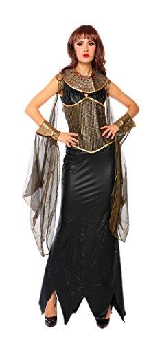 loween Kostüme Kleopatra und Griechischen Göttin Cosplay Karneval Allerheiligen Kleider Schwarz (Kreative Halloween-kostüme Ideen Für Frauen)