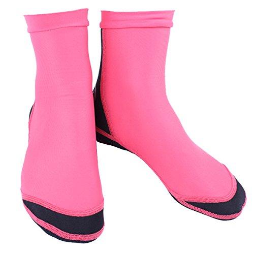 HYSENM Unisex Socken Tauchsocken Neoprensocken Tauchen 1,5mm, Rosa M