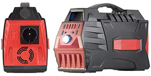 reVolt Powerpack: Solar-Konverter & Powerbank, 80 Ah, 288 Wh, 230 V, 12 V, USB, 500 W (Powerbank 230V)
