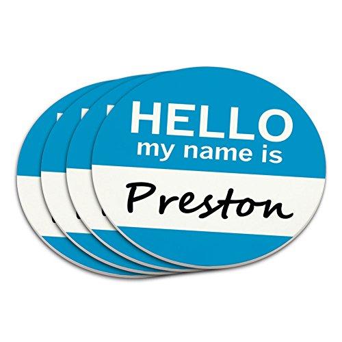 Preston Hello My Name Is Untersetzer Set (Preston-set)