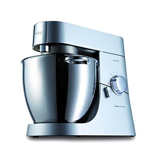 Kenwood Major Titanium KMM060 Küchenmaschine, 1.500 W, 6,7 l Füllmenge, 4-teiliges Patisserie-Set, 1,6 l ThermoResist Glas-Mixaufsatz