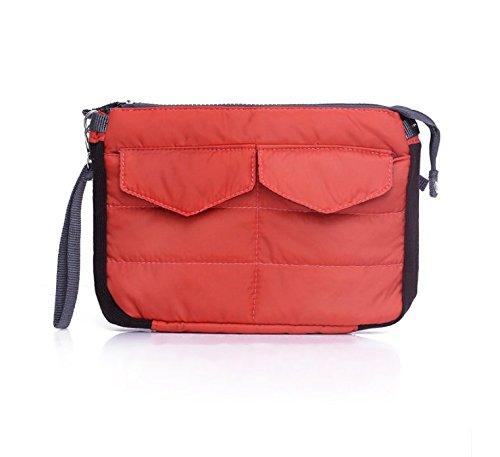 UChic 1PCS Multi-Funktions-Nylon Reißverschluss Gadget Tasche in Tasche Handtasche Reise Aufbewahrungstasche Organizer für iPad Tablets (Tote Handtasche Bag Zippered)