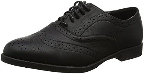 New Look Women's Wide Foot Jo Brogues, Black (Black), 6 UK 39 EU