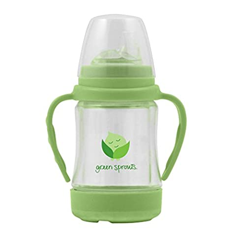 green sprouts Glass Sip'n Straw Cup (Green)