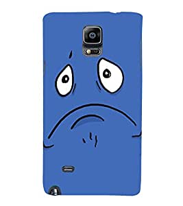 Ebby Printed Back Cover for Samsung Note 4(Premium Designer case)