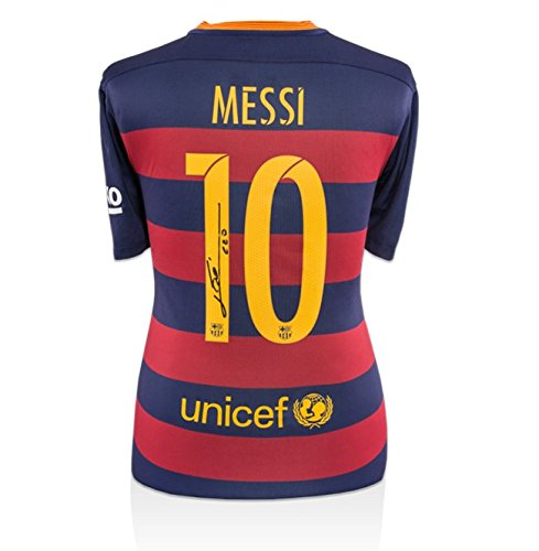 Icons-Shop-Unisex-ICLMBS64-Lionel-Messi-Official-Back-Signed-Barcelona-2015-16-Home-Shirt-Multi-Colour