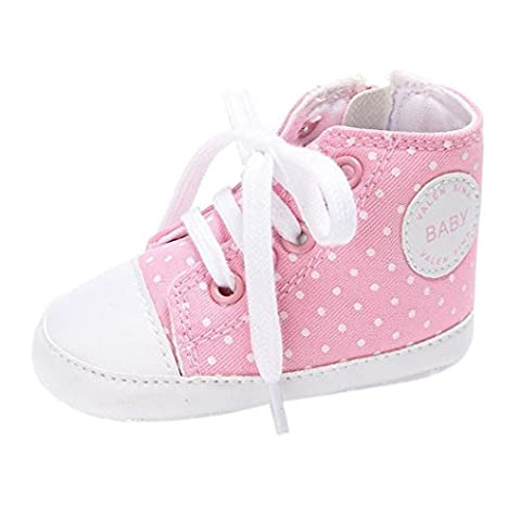 Baby Schuhe, Switchali Neugeborene Krippe Soft Sole Schuh Sneakers (1 (0-6M), Rosa) (6m Jack)
