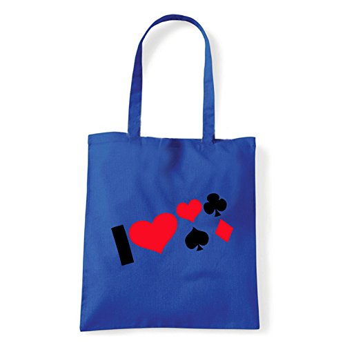 Art T-shirt, Borsa Shoulder i-love-poker Blu