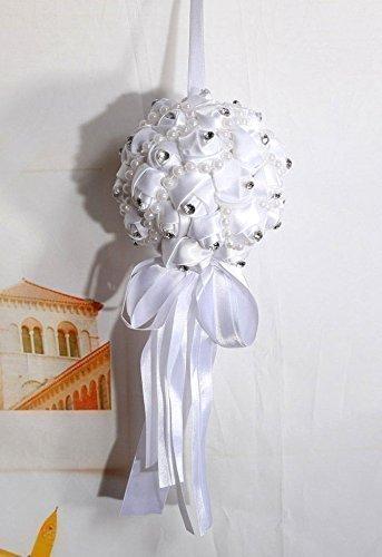 Wedding-Kuss, Kunstblume Rose Pomander, Hochzeit, Mit Glaskristall Verziert, 13 cm Durchmesser.