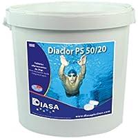 DIACLOR PS 50/20: Cloro disolución rápida. Pastillas efervescentes 20 gr. Bote 1 Kgr.