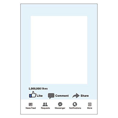 Weddecor grande social media Style photo booth Prop telaio solo Facebook like share osservazione per stare insieme, Corporate Event, foto puntelli puntelli di compleanno, laurea