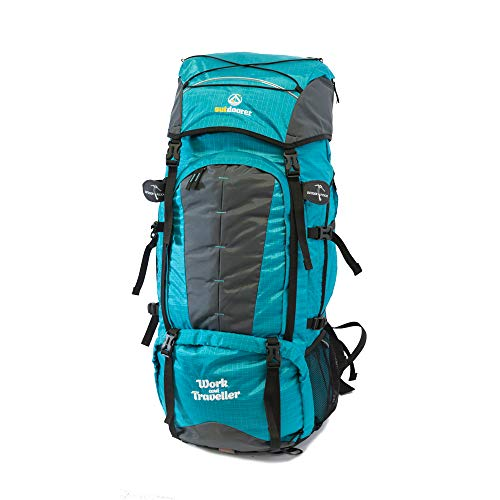 outdoorer Reiserucksack für Frauen - Work and Traveller 65+10 mit Frontzugriff, ergonomisch, anpassbar an jeden Rücken, idealer Frontlader Rucksack für Work and Travel Aufenthalte und Backpacking