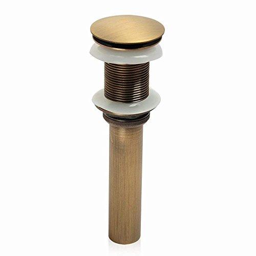 Sccot Pop up Ablaufgarnitur, Messing Ablaufgarnitur für den Waschtisch Pop-Up-Ventil Waschbecken-Ablauf Ohne Überlauf Beendet (Gelb) (Waschbecken Gelb)