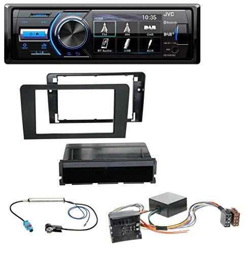 JVC KD-X561DBT Bluetooth MP3 USB DAB Autoradio für Audi A3 8P 06-12 Symphony Infinity Aktivsystem Infinity Auto-subwoofer