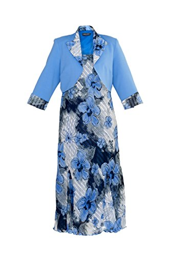 en Kleid Anzug–Orange/Blau–Hochzeit/Kirche/Anlass/Party Formelle–Größen 14/16/18/20/22/24 Gr. 40, Blau - Blau (Womens Kirche Anzüge Unter 100)