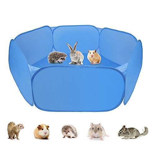 Zacro tenda per gabbia di animali di piccola, box per animali portatile con box per piccoli animali box per cavie, conigli, criceti, cincillà e ricci
