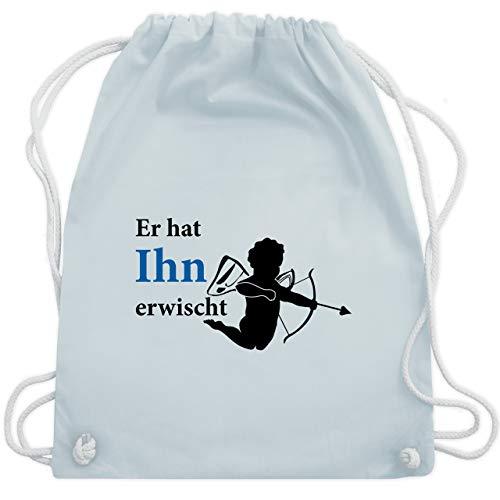 hied - Er hat Ihn erwischt - Unisize - Pastell Blau - WM110 - Turnbeutel & Gym Bag ()
