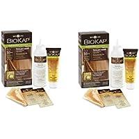 Bios Line BIOKAP – Nutricolor delicada + 8.64 New rojo tiziano 2 paquetes de 140 ml