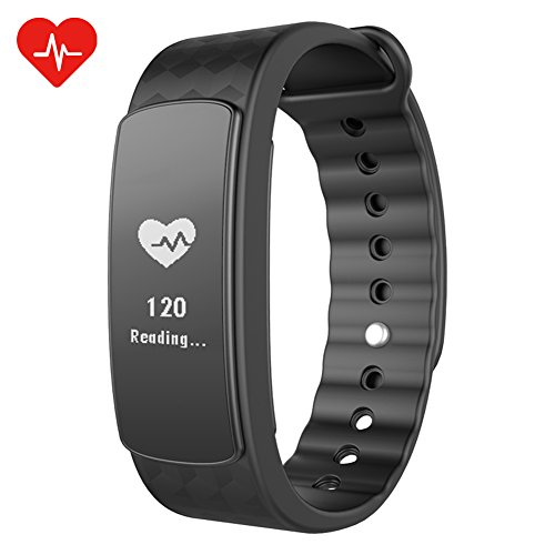 CHEREEKI Braccialetto Cardiofrequenzimetro Fitness Tracker Braccialetto Sport Cardiofrequenzimetro, Pedometro, Sleep Tracker, Monitoraggio Calorie, Activity Tracker Smart Bracelet per Android iPhone iOS Smartphone