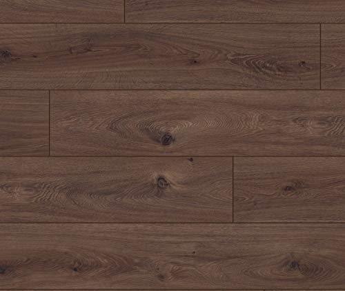 KRONOTEX Laminat Exquisit Prestige Eiche dunkel Landhausdiele 1-Stab mit V-Fuge I 8 Dielen im Paket = 2,13 m²