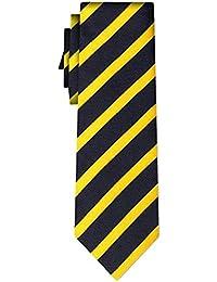 cravate rayée stripe 1cm yellow navy (P)