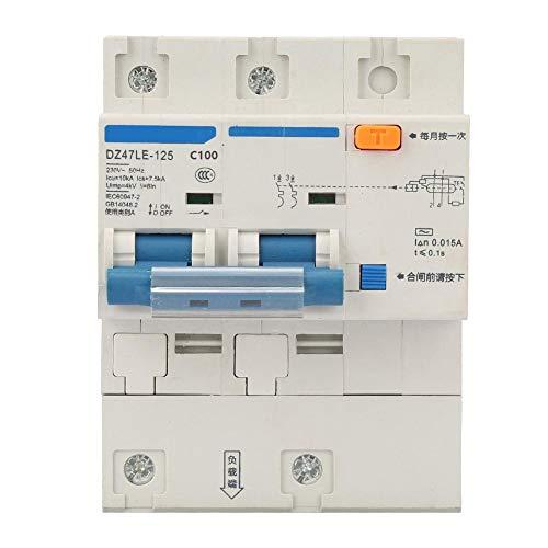 Zerone Disyuntor de corriente, interruptor de protección contra fugas de CA 230V...
