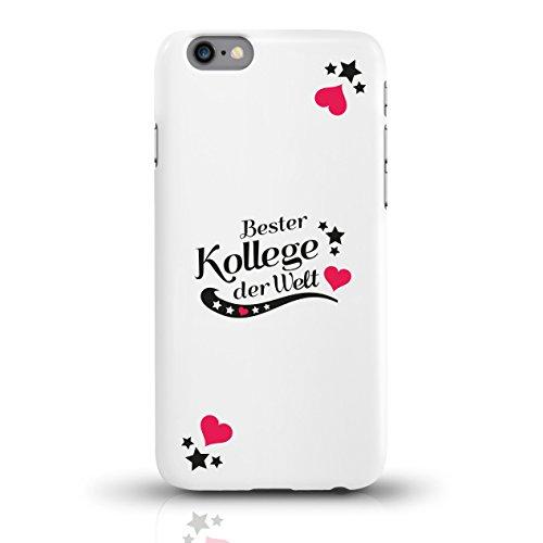 """JUNIWORDS Handyhüllen Slim Case für iPhone 6 / 6s mit Schriftzug """"Bester Kollege der Welt"""" - ideales Weihnachtsgeschenk für den Kollegen - Motiv 3 - Handyhülle, Handycase, Handyschale, Schutzhülle für motiv 2"""