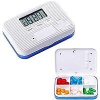 Kobwa Tägliche Pille Reminder Box–Digital leicht Pille Medizin Aufbewahrungsbox mit 5Timer-Alarm, Travel Business... preisvergleich bei billige-tabletten.eu