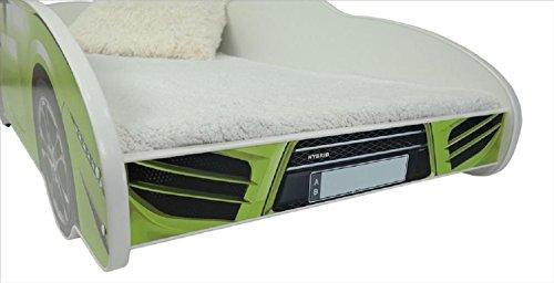 hogartrend Toddler Beds Car green hogartrend Children's Bed 140x 70in the form of a car with foam mattress 2