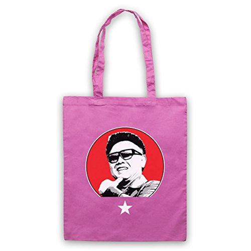 Kim Jong Il North Korean Dictator Umhangetaschen Rosa