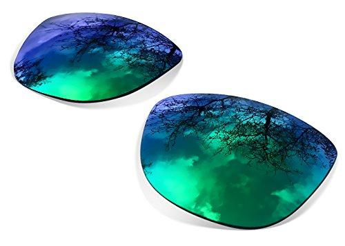 sunglasses restorer Kompatibel Ersatzgläser für Oakley Frogskins, Polarisierte Sapphire Green Linsen