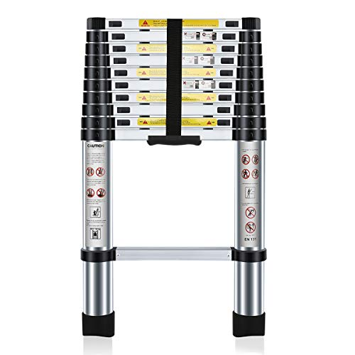 Scopri offerta per Nestling® 3.2M Scala Telescopica Pieghevole, Multiuso Allungabile Scaletta Alluminio, Carico Massimo 150 kg,Norme EN131