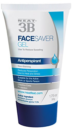 Neat Feat 3B Face Saver Antiperspirant Gel for Facial Perspiration and Shine, 1.76 Fluid Ounces - Active Sunscreen