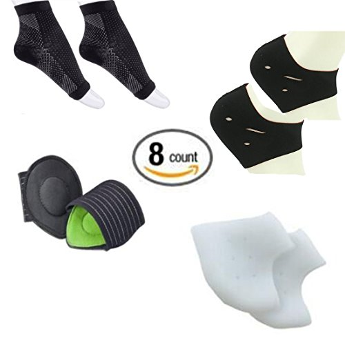 foot-sleeve-1-pair-plantar-fasciitis-silicone-gel-heel-protectors-1-pair-arch-support-therapy-wrap-1