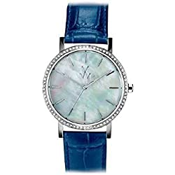 Toy Watch Quartz Maya mym02wh Clock (Rechargeable) quandrante Steel Mother of Pearl Leather Strap